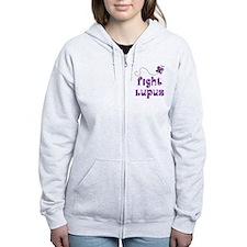 Lupus Purple Butterfly Zip Hoody