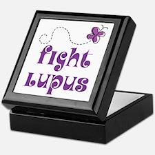 Lupus Purple Butterfly Keepsake Box