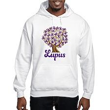 Lupus Purple Ribbon Tree Jumper Hoody