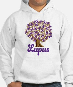 Lupus Purple Ribbon Tree Jumper Hoody
