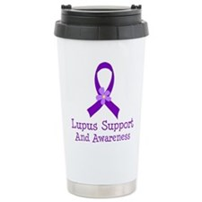 Lupus Purple Ribbon Travel Mug
