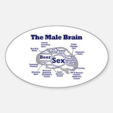 The Thinking Man's Oval Decal