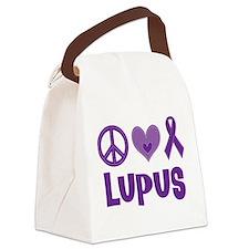 Lupus Peace Love Cure Canvas Lunch Bag