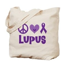 Lupus Peace Love Cure Tote Bag