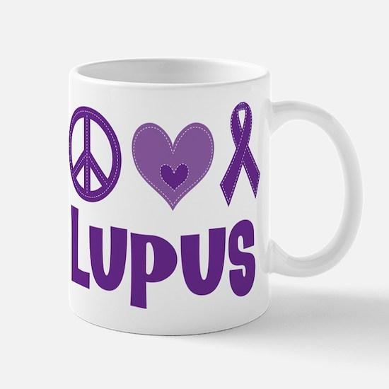 Lupus Peace Love Cure Mug