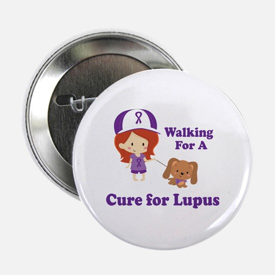 "Lupus Walk for a Cure 2.25"" Button"
