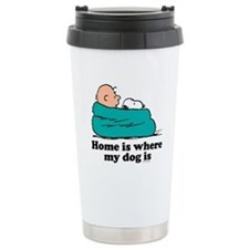 Charlie Brown: Home is Travel Mug