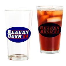 Reagan Bush '84 classic 3D Drinking Glass