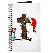 Cute Santa cross Journal