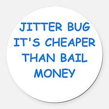 jitterbug Round Car Magnet