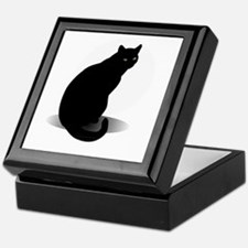 Cool Halloween cat Keepsake Box
