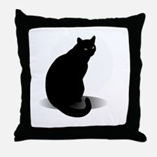 Unique Halloween cat Throw Pillow