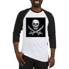 Glassy Skull and Cross Swords Baseball Jersey
