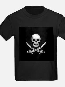 Glassy Skull and Cross Swords T-Shirt
