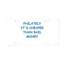 philatelist Aluminum License Plate