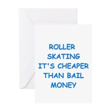 roller skating Greeting Cards