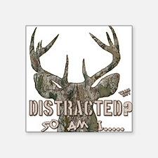 Distracted? So am I Dazed Deer Head Camo Sticker