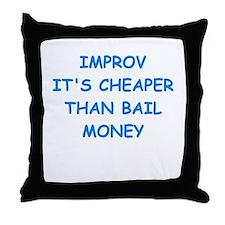 improv Throw Pillow