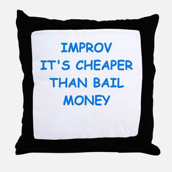 improv Throw Pillow