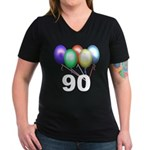 90 Women's V-Neck Dark T-Shirt