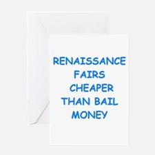 renaissance fair Greeting Cards