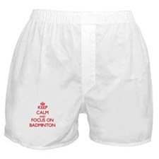 Unique Keep calm and play badminton Boxer Shorts