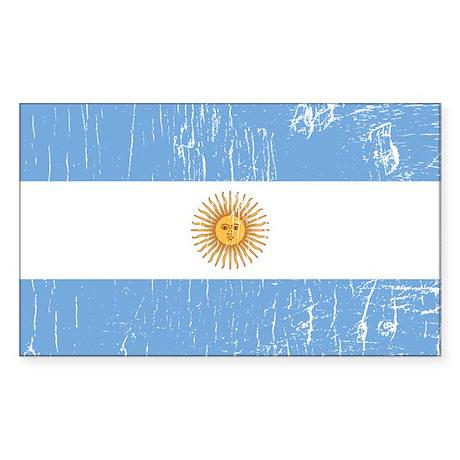 Vintage Argentina Rectangle Sticker