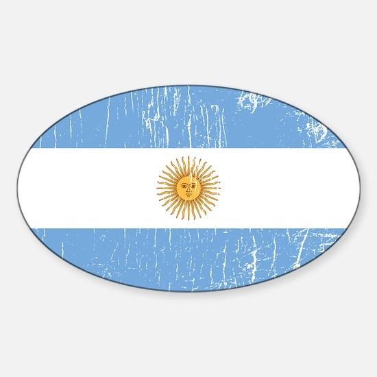 Vintage Argentina Oval Decal