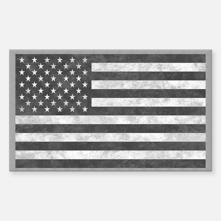 Tactical US Subdued Grey Flag Decal