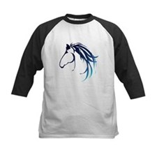 Classic Blue Horse Head Logo Baseball Jersey