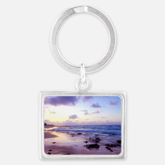 Hawaii - Sandy Beach -2 Landscape Keychain