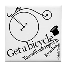 get a bicycle Tile Coaster