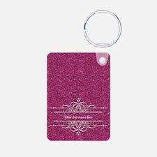 Pink Glitter Keychains