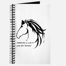 Attitude In Not Just For Horses Fun Quote Journal