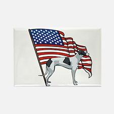 USA Greyhound Rectangle Magnet