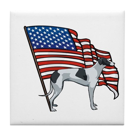USA Greyhound Tile Coaster