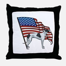 USA Greyhound Throw Pillow
