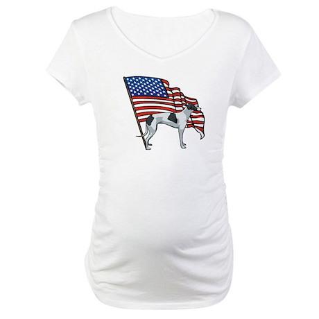 USA Greyhound Maternity T-Shirt