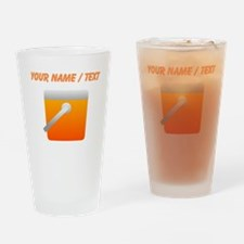 Custom Orange Cooler Drinking Glass