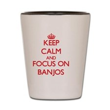 Unique I love banjos Shot Glass