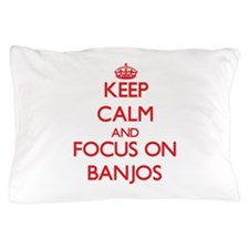 Unique I love banjos Pillow Case