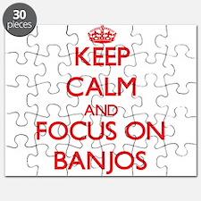Cute I love banjos Puzzle