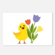 Chick with Tulips Postcards (Package of 8)