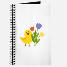 Chick with Tulips Journal
