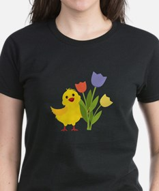 Chick with Tulips T-Shirt
