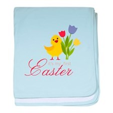 First Easter Chick baby blanket
