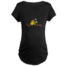 Happy Spring Chick Maternity T-Shirt