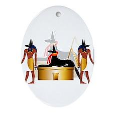 Cute Jackal Ornament (Oval)
