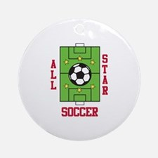 All Star Soccer Ornament (Round)