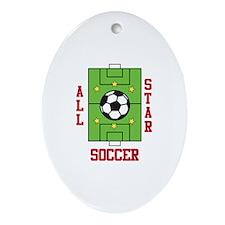All Star Soccer Ornament (Oval)